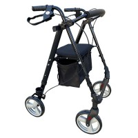 Rollator 8inch Flexi Height Adjustable - Charcoal