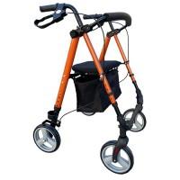 Rollator 8inch Flexi Height Adjustable - Orange