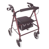 "Rollator Lightweight 8"" Castor - Red"