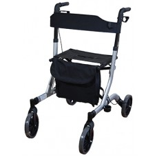Deluxe Lightweight Rollator - Silver
