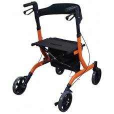 Deluxe Lightweight Rollator - Orange