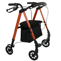 "Rollator 6"" Flexi Height Adjustable - Burnt Orange"