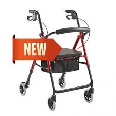 "Rollator RM201 Seat Adjustable 6"" Castor"