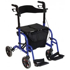 Deluxe Duo Rollator / Transit Chair - Blue