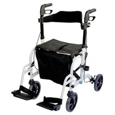 Deluxe Duo Rollator / Transit Chair - White