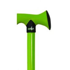 Walking Cane Folding Rubber Handle - Green
