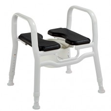 Combo Shower Stool/Chair/Over Toilet Aid - Black Seat with Insert