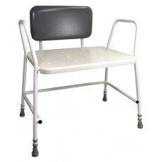 Portland Bariatric Shower Stool with Padded Backrest