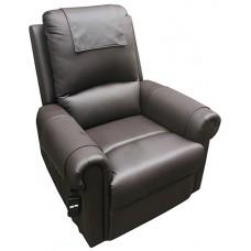 Oxford Rise Recline Chair - Petite PU Chocolate
