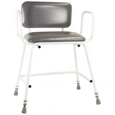 Torbay Bariatric Perching Stool with Back and Arm Rests