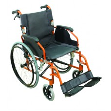 Wheelchair Deluxe Self Propelled - Orange