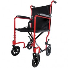 Wheelchair Aluminium Compact Transit - Red