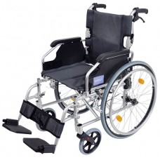 Wheelchair Deluxe Self Propelled - Silver
